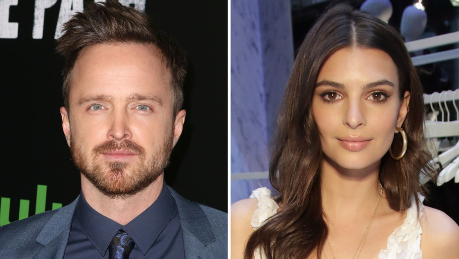 Aaron Paul Emily Ratajkowski Split - Getty - H 2017
