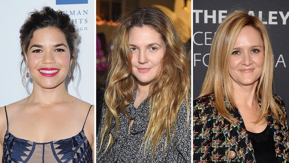 America Ferrera, Drew Barrymore, Samantha Bee_Split - Getty - H 2017