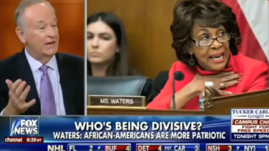 Bill O'Reilly with Maxine Waters - Screengrab - H 2017