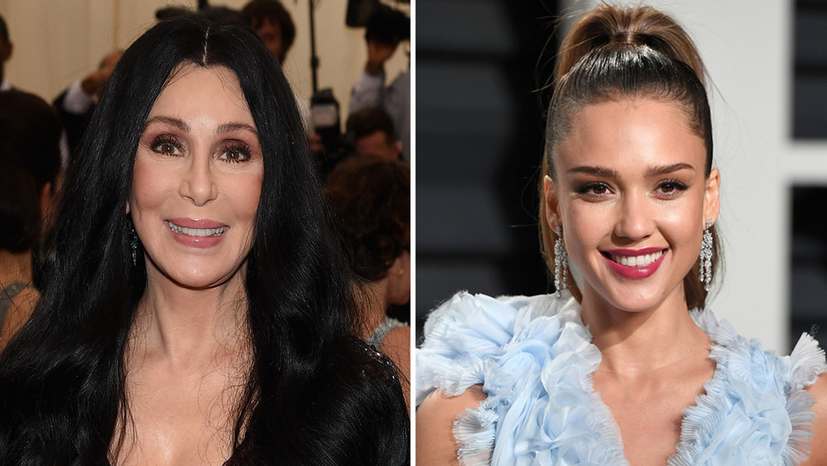 Cher Jessica Alba - Getty - H Split 20217
