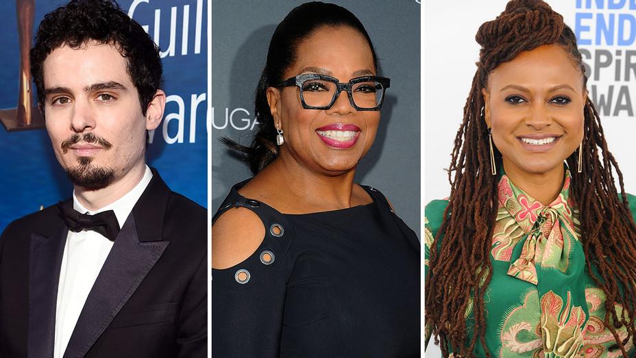 Damien Chazelle, Oprah Winfrey, and Ava DuVernay  -Split-Getty-H 2019