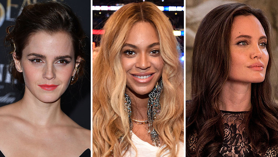 emma watson beyonce angelina jolie split - getty - H 2017