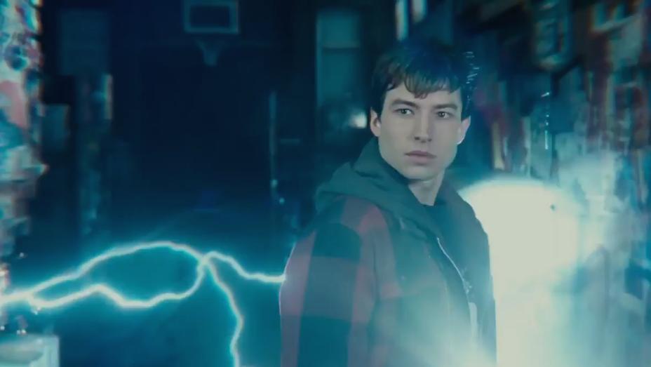 Ezra Miller - Justice League The Flash Sneak Peek Still - H 2017