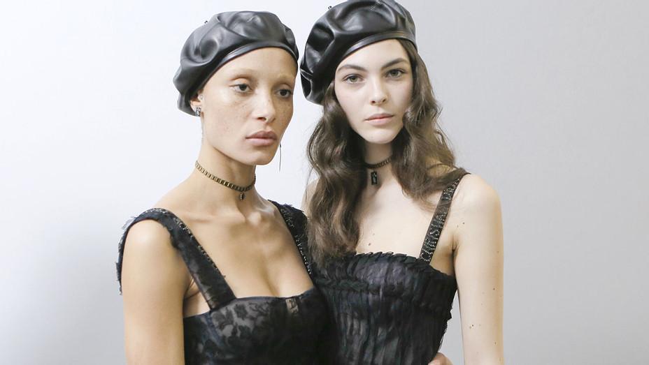 Adwoa Aboah and Vittoria Ceretti -Backstage before the Christian Dior show -Getty-H 2017