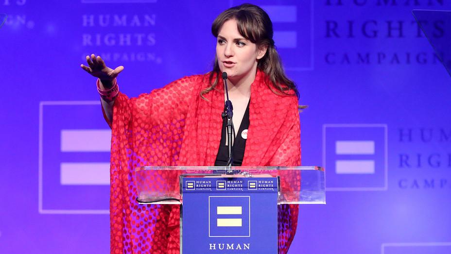 Lena Dunham Human Rights Campaign - Getty - H 2017