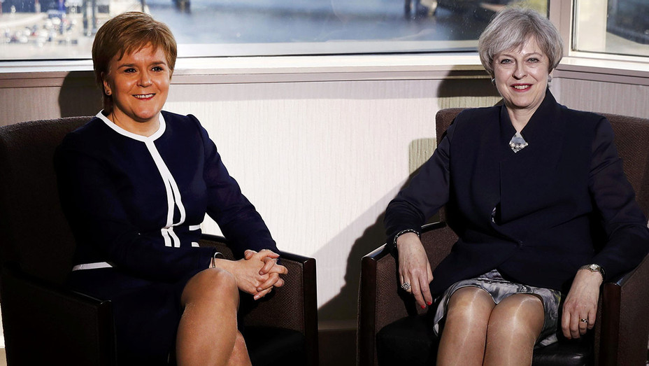 Theresa May Nicola Sturgeon Glasgow - Getty - H 2017