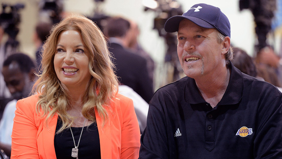 Jeanie and Jim Buss family - Getty - H 2017