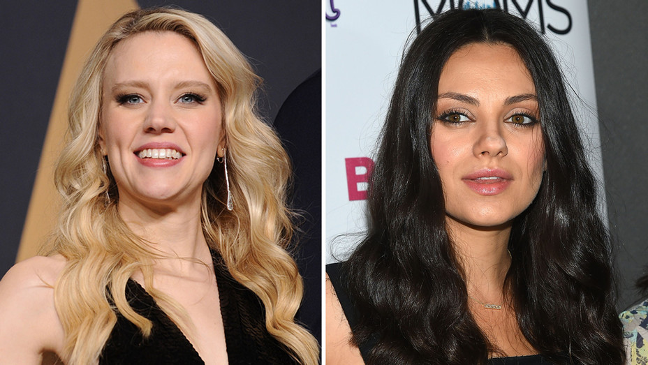 Kate McKinnon Mila Kunis - Getty - H Split 2017