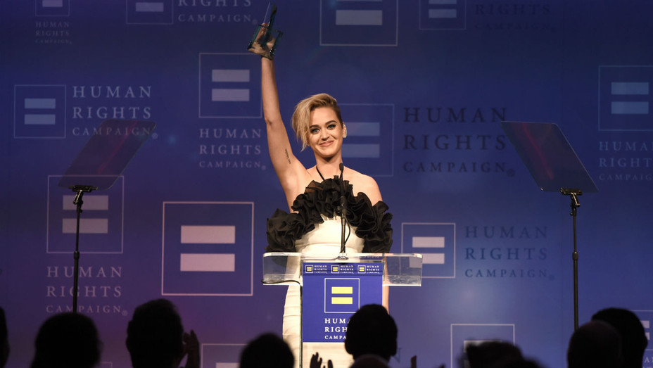 Katy Perry Onstage HRC Gala - Getty - H 2017