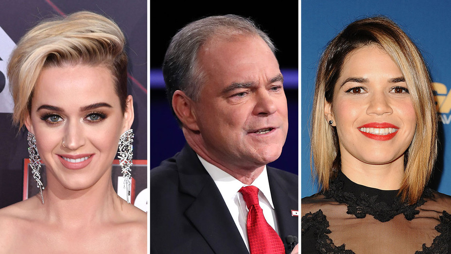 Katy Perry Tim Kane America Ferrera Split - Getty - H 2017