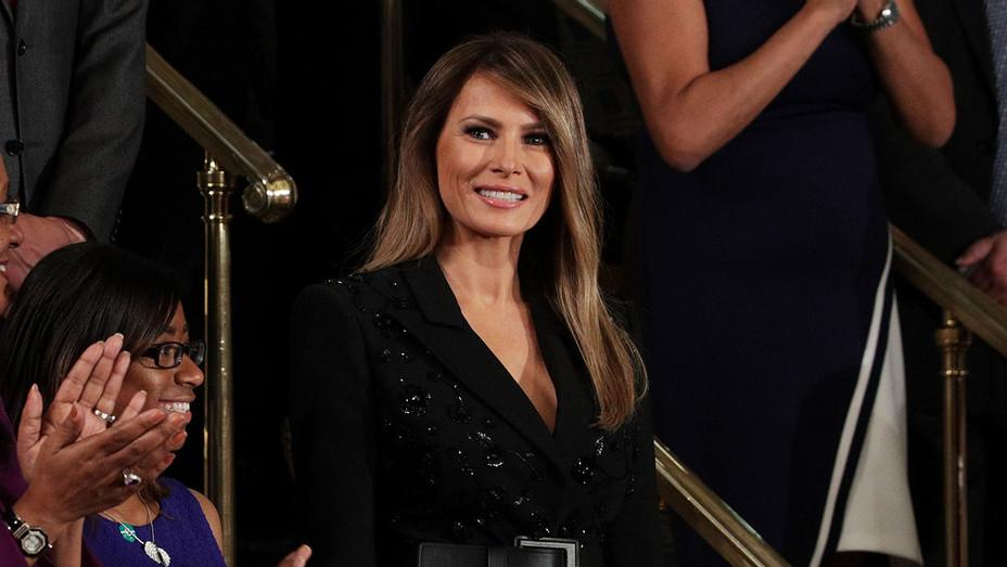 Melania Trump_Trump Speech to Congress - Getty - H 2017