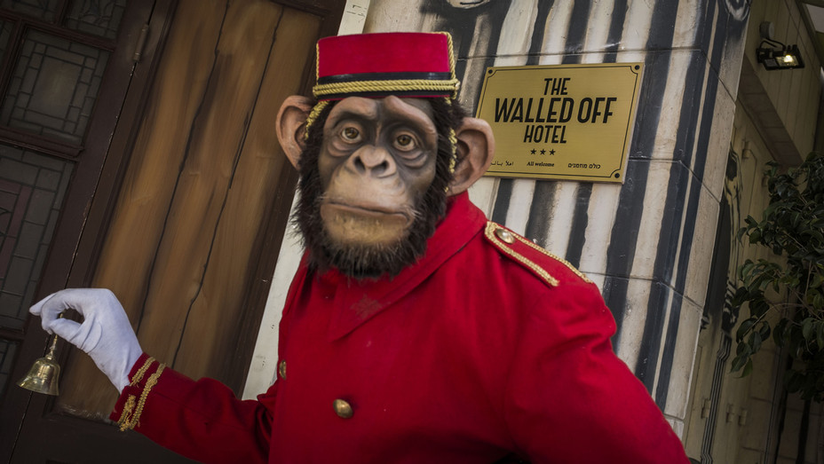 Monkey Butler at Banksys Walled Off Hotel - Getty - H 2017