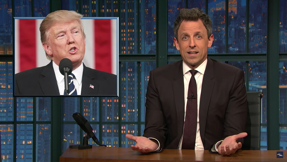 Seth Meyers Media Fawns Over Trump's New Tone - H 2017
