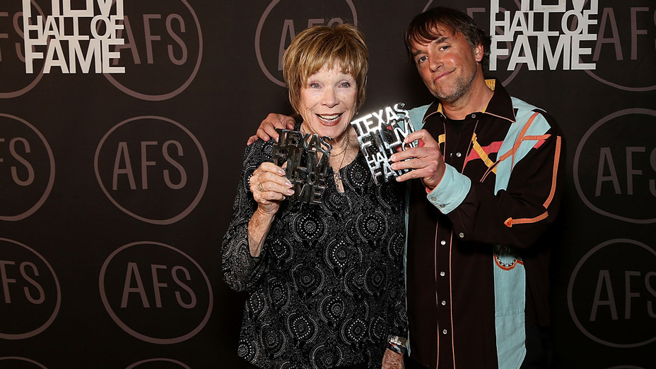 Shirley MacLaine Richard Linklater Texas Film Awards - Getty - H 2017