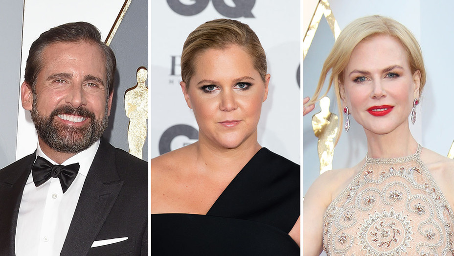 Steve Carell, Amy Schumer and Nicole Kidman_Split - Getty - H 2017