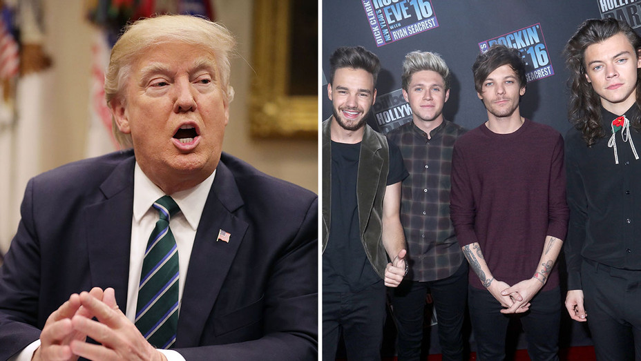 Trump and One Direction_Split - Getty - H 2017