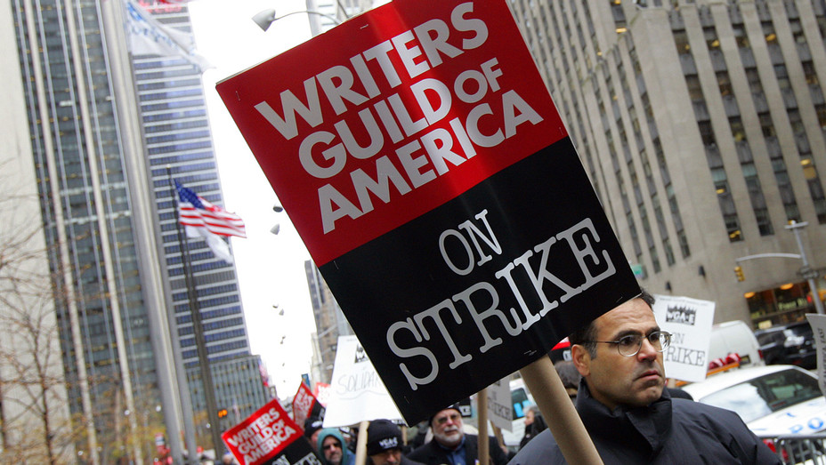 WGA Strike Sign - Getty - H 2017