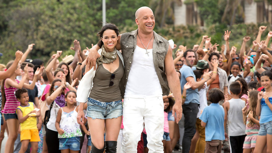 The Fate of the Furious - MICHELLE RODRIGUEZ -VIN DIESEL-Publicity-H 2017