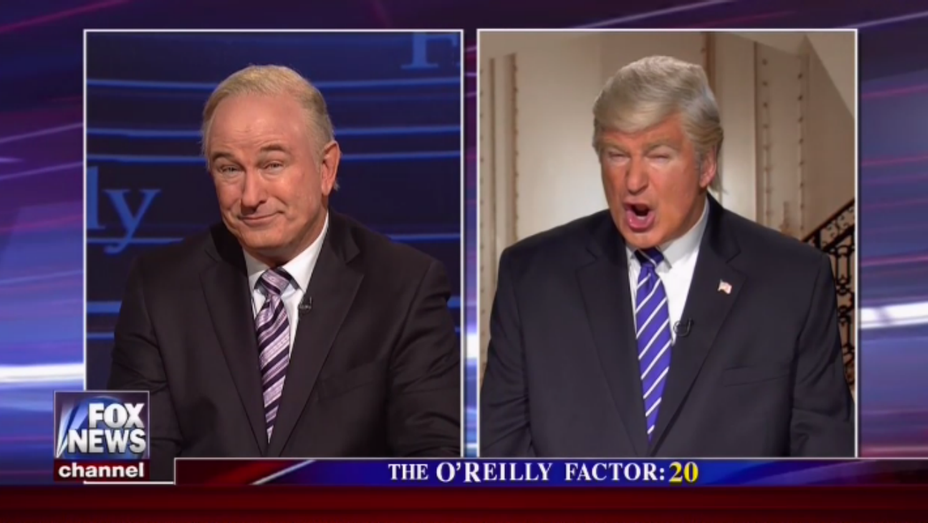 Alec Baldwin as Bill O'Reilly and Trump on SNL - H 2017