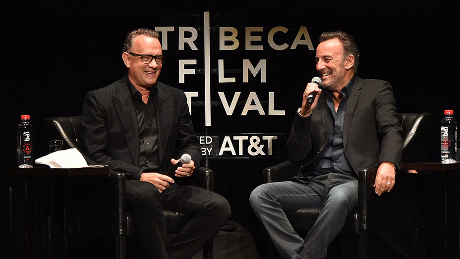 Bruce Springsteen and Tom Hanks Tribeca - Getty - H 2017