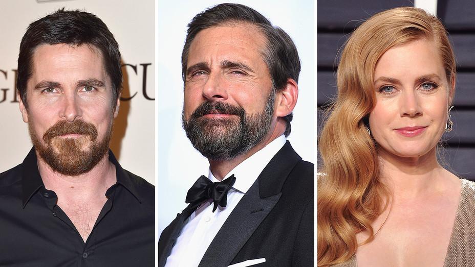 Christian Bale, Steve Carell, Amy Adams_Split - Getty - H 2017