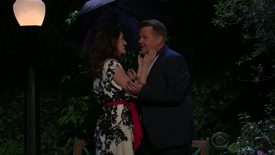 James Corden and Anne Hathaway — H 2017