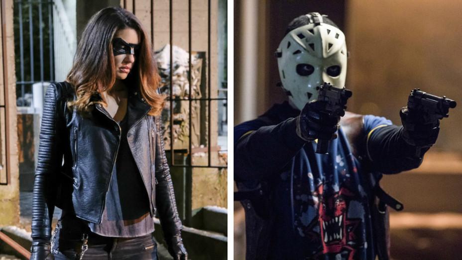 Rick Gonzalez, Juliana Harkavy on Arrow - Publicity - H 2017