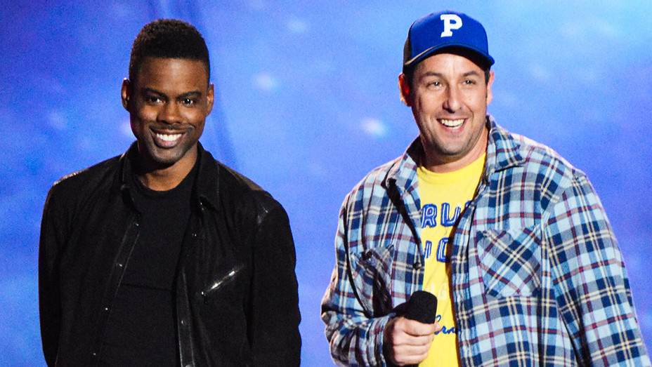 Chris Rock and Adam Sandler - 2013 MTV Movie Awards - Getty - H 2017