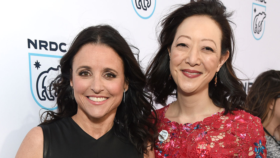 NRDC STAND UP! for the planet 2017-Julia Louis-Dreyfus and President of NRDC Rhea Suh -Getty-H 2017