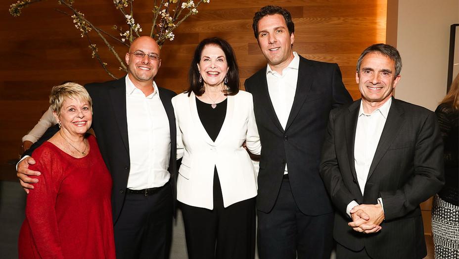 Toni Howard, Chris Silbermann, Sherry Lansing, Matthew Belloni and Stephen Galloway - Book Party - Getty - H 2017