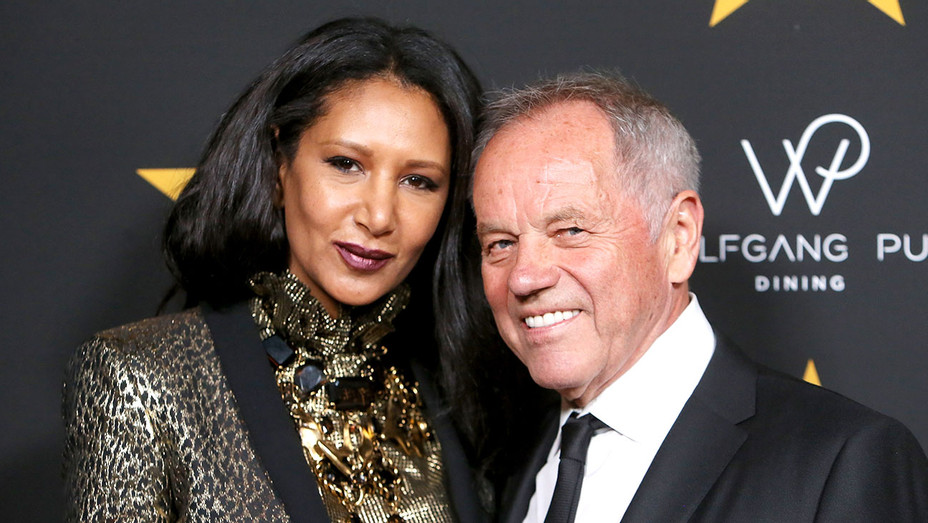 Wolfgang Puck receiving a Star on Hollywood Walk of Fame-Wolfgang Puck and Gelila Assefa Puck -Getty-H 2017