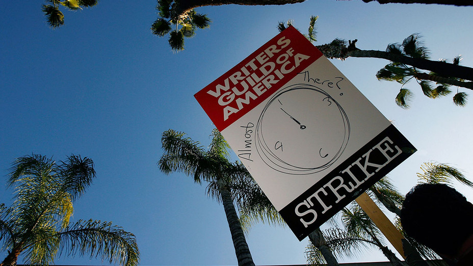 Writers Guild of America  -picket sign 2008 - Getty-H 2017
