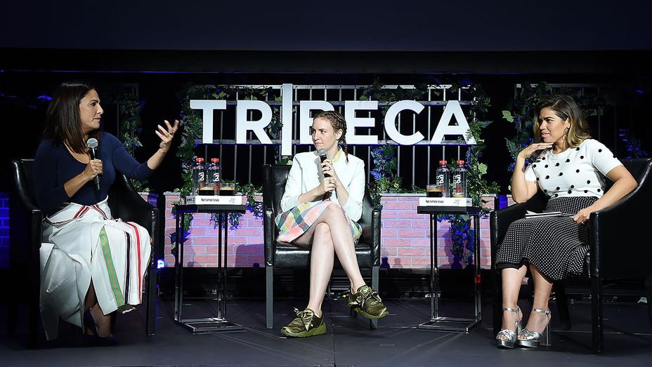 Jenni Konner_Lena Dunham_America Ferrera - Getty - H 2017