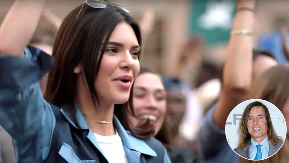 Kendall Jenner Pepsi ad, and inset of Bryan Buckley - Screen Shot- Getty -H 2017