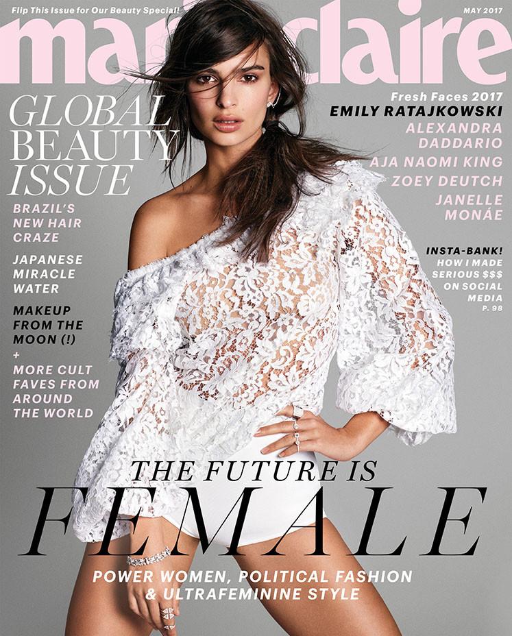 Marie Claire Cover - Emily Ratajkowski - Publicity - EMBED 3 - P 2017