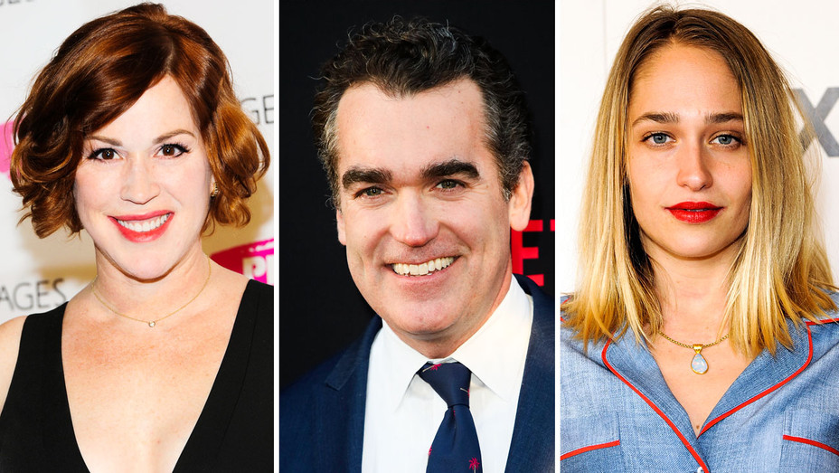 Molly Ringwald, Brian D'arcy James and Jemima Kirke - Split - Getty - H 2017