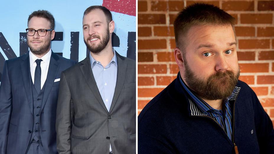 Seth Rogen, Evan Goldberg and Robert Kirkman -New-Split-H 2017
