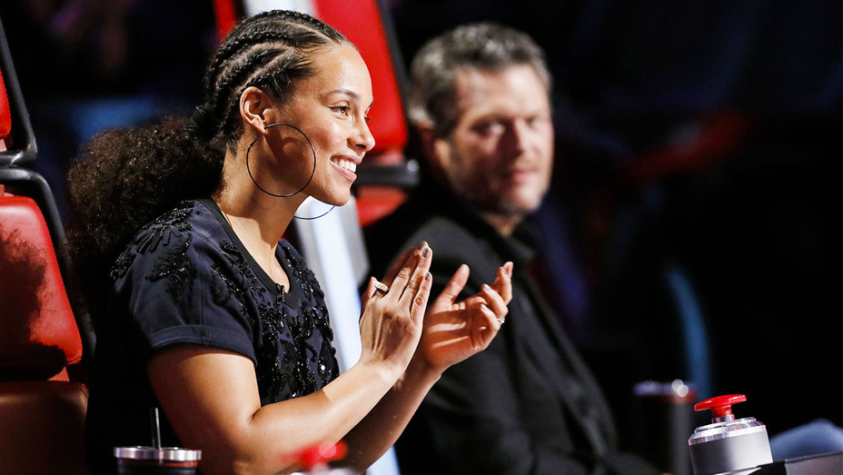 The Voice Still Alicia Keys and Blake Shelton - Publicity - H 2017