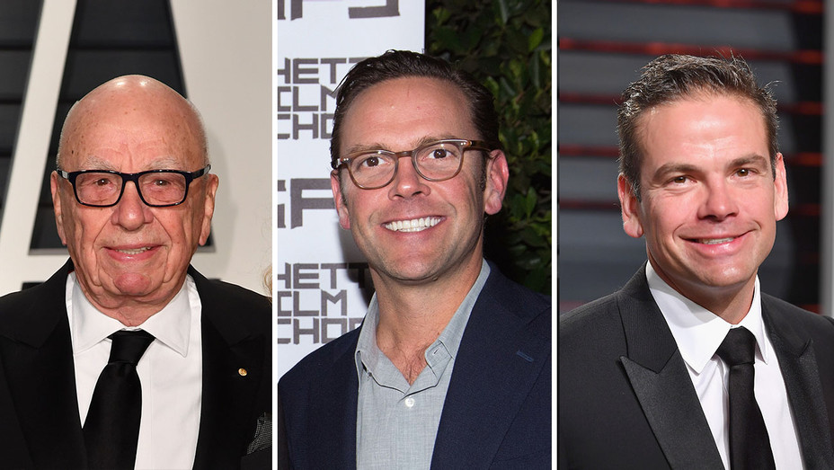 Rupert, James and Lachlan Murdoch_Split - Getty - H 2017