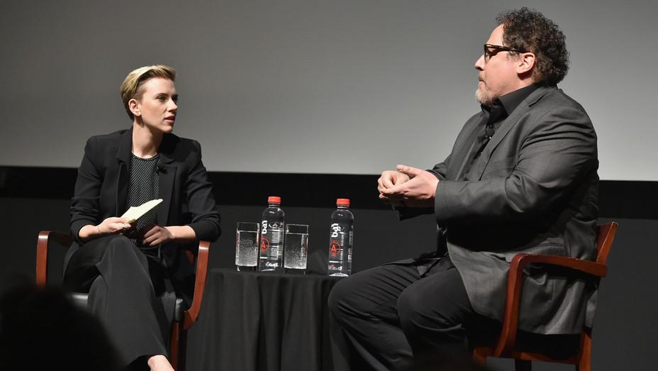 Scarlett Johansson and Jon Favreau at the Tribeca Film Festival - H Getty 2017
