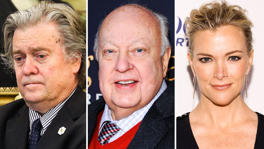 Steve Bannon, Roger Ailes, Megyn Kelly - Split - Getty - H 2017