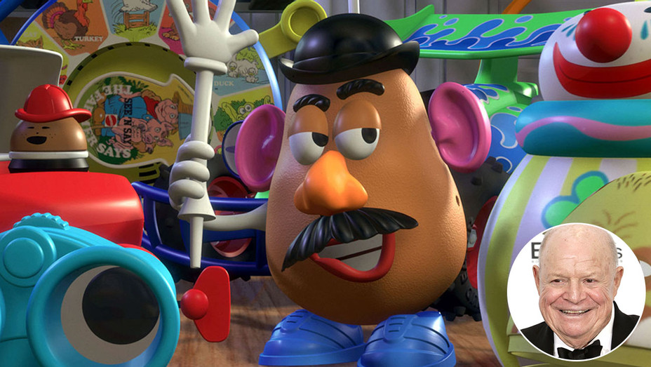 Mr. Potato Head from Toy Story and an inset of Don Rickles - Photofest -Getty-H 2017