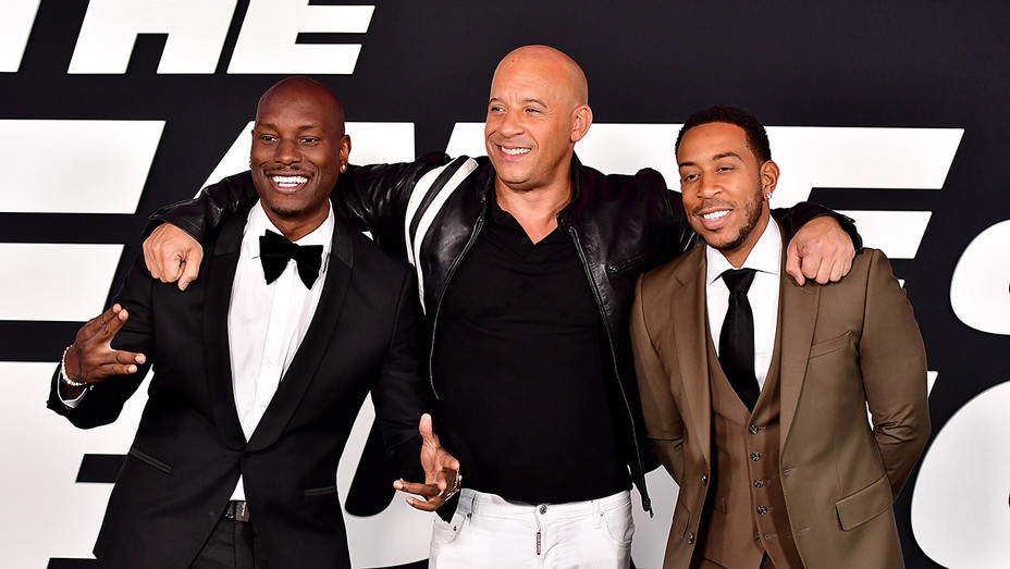 Tyrese Vin Diesel Ludacris Fate of the Furious Getty H 2017