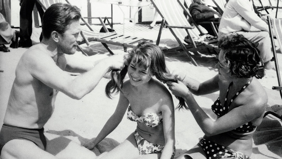 Cannes 70 Most Memorable Moments - 15 - Kirk Douglas and Brigitte Bardot -One Time Use-Getty Images - H 2017