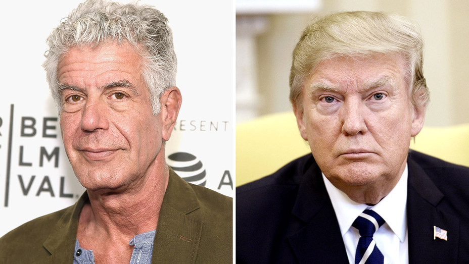 Anthony Bourdain and Donald Trump-Getty-H 2017