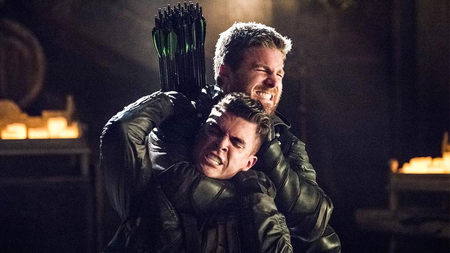 The Green Arrow Still Josh Segarra and Stephen Amell - Publicity - H 2017