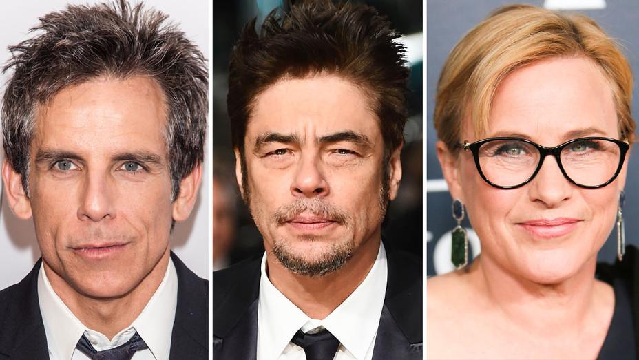Ben Stiller, Benicio Del Toro and Patricia Arquette - Split - Getty - H 2017