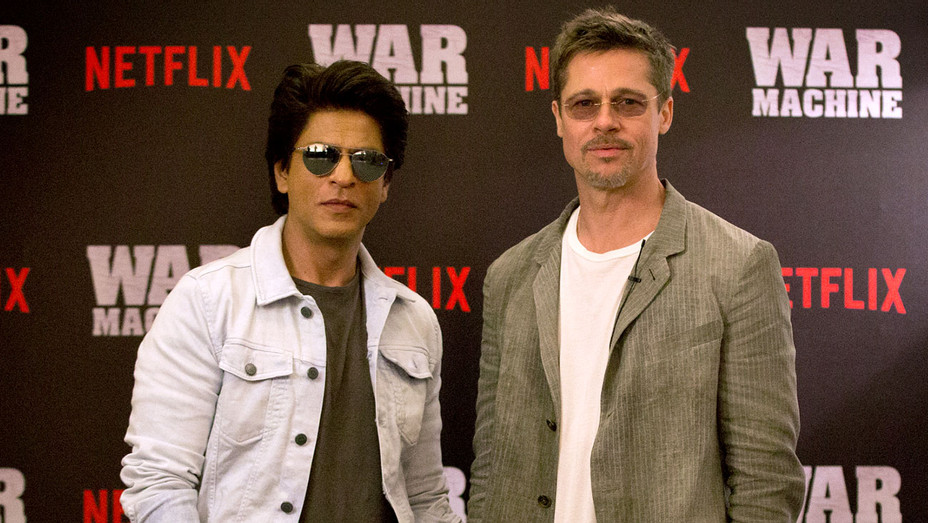 Brad Pitt and Shah Rukh Khan in Mumbai -Publicity-H 2017
