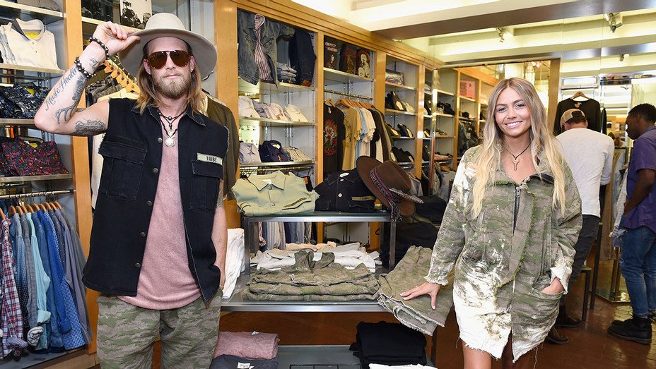 Brian Kelley and Brittney Kelley attend Tribe Kelley Debuts at Ron Robinson - Publicity - H 2017