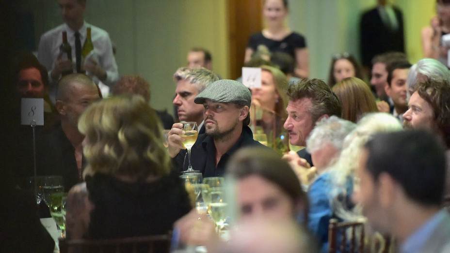 Leonardo DiCaprio & Sean Penn at Sotheby's NYC - H 2017 Getty